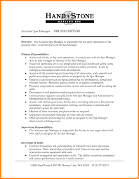 Ideas Collection 9 Spa Job Description for Day Spa Manager Sample Resume