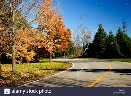 Paved Roadway In Fall Stock Photo 11421845 Alamy