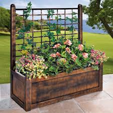 Flower Box With Trellis