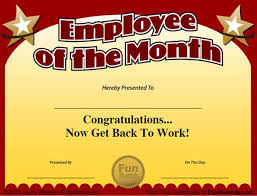 Free Employee Of The Month Certificate Template Awesome 48 Funny Employee Awards Now Contains Funny Employee Of The Month