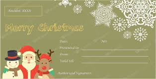 12 Beautiful Christmas Gift Certificate Templates For Word
