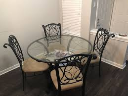 round glass top table with four chairs furniture in san antonio tx offerup