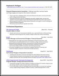 Financial Education Consultant Resume The Empowered Dollar