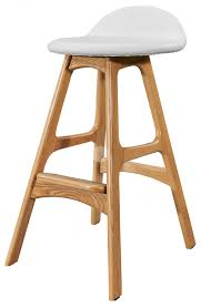 replica erik buch bar stool ash timber legs white italian leather