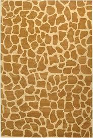 safavieh orange animal print wool rug 2