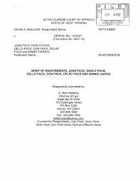 respondent's brief, David A. Wallace v. John Pack, et al., No. 12-0227