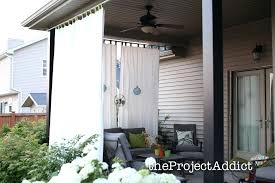 outdoor patio curtains ideas decorating