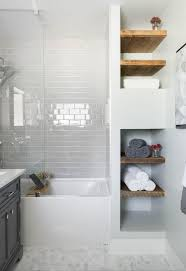 built in bathroom wall storage. Contemporary Bathroom Openfaced Linen Closet With Distressed Wood Shelves Throughout Built In Bathroom Wall Storage E