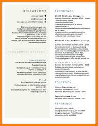 Two Column Resume Template Average Inspirational Cv Word Letter