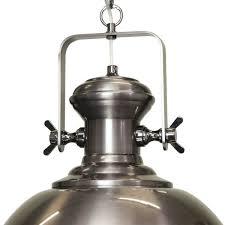 gaia industrial pendant light antique silver