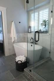 small bathroom with standing shower master bathroom remodel shower free standing bath tub marble tile small