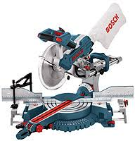 miter saw labeled. photo courtesy bosch miter saw labeled