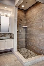 bathroom bathroom shower tile ideas elegant diamond pattern wood accent wall mosaic artistic metal mirror