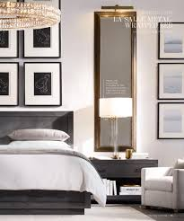 Modern Bedroom Nightstands Love The Long Mirrors Over Nightstands Framing The Bed On Either