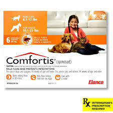 10120 lb dogs6112 cats orange 6 count comfortis for dogs l19