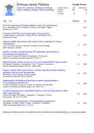 Preview Of Srinivas Reddy Pallerla Google Scholar Citations