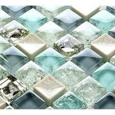blue ice glass tile mosaic sheets beige le glass porcelain backsplash ed tiles for