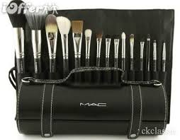 brand new 15pcs makeup brush set with leather bag