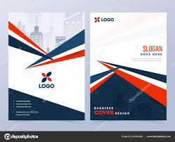 Coverpage Template Front Back View Cover Page Template Design Layout Corporate