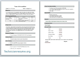 Download Free Resume Format For Freshers Resume Format For Freshers