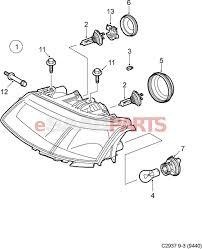12762390 saab headlamp wiring repair kit 03 07 9 3 halogen h7 view all parts in diagram