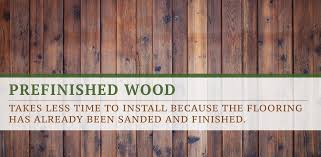prefinished wood flooring faster to install