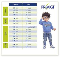 Clothing Size Conversion Table Primigi