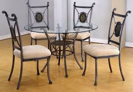 outstanding dining room decoration with round glass top dining table sets cool picture of small