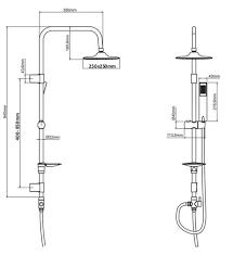 Duschset Mit Thermostat Duschsystem Brauseset Dusche