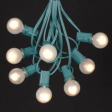 globe lighting chandelier. Picture Of 25 G30 Globe Light String Set With Frosted White Bulbs On Green Wire Lighting Chandelier A