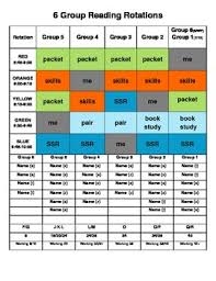 Editable Guided Reading Group Literacy Centers Rotation Schedule