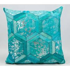 teal decorative pillows.  Pillows Michael Amini Turquoise And Silver 20Inch Decorative Pillow With Teal Pillows