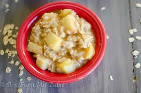 apple oatmeal. salted caramel apple oatmeal