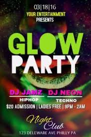 glow flyer customizable design templates for glow party postermywall