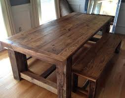 traditional barn wood dining room table with bench old barn wood dining tables