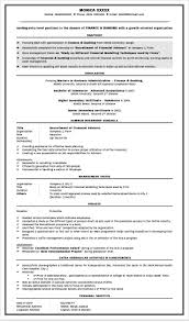 Banking Resume Sample For Freshers Resume Format For Banking Sector Freshers Templates Download Stock 2