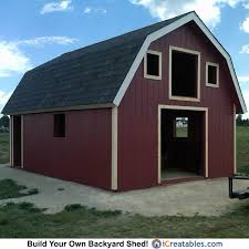 16x24 gambrel barn shed plans
