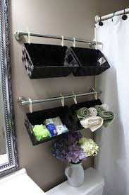 Creative diy bathroom ideas budget Basement Bathroom Diy Bathroom Organization Ideas Create Wall Full Of Basket Organizers Over The Toilet For Dreaming In Diy Easy Inexpensive Do It Yourself Ways To Organize And Decorate Your