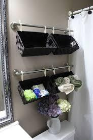 diy bathroom organization ideas create a wall full of basket organizers over the toilet for