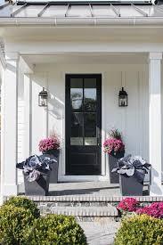 white home with black door