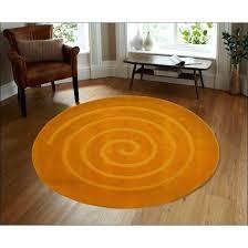 orange wool rugs uk handmade modern round rug swirl of beauty 2