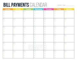 Bill Payment Organizer Template Bill Payment Organizer Monthly Payment Calendar Template Bill