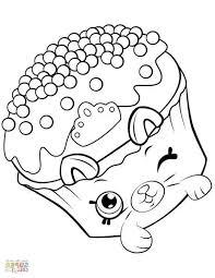 Petkins Royal Cupcake Shopkin Coloring Page Loldollus