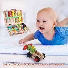 Darling Dụng Cụ Bằng Gỗ Cho Bé Bộ Đồ Chơi Chơi Sửa Chữa Giả Vờ Playset Trẻ  Em Đồ Chơi Trong Độ Tuổi Từ 4-6 Năm Tuổi