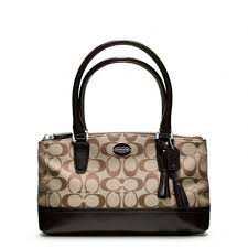 Lyst - Coach Legacy Signature Mini Rory Bag in Brown