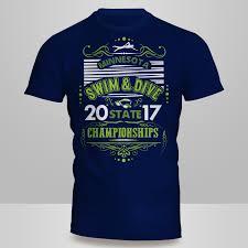 Swim Championship T Shirt Designs Masculine Bold High School T Shirt Design For A Company By
