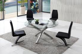 branseo round glass dining table with aldo chairs