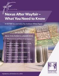 Sales Tax Institute Nexus Chart Sales Tax Nexus After Wayfair What You Need To Know Free