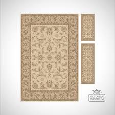 victorian rug style km4121 cream beige