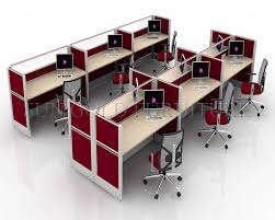 small office cubicle small. Red 6 Seater Call Center Workstation Cubicle For Small Office